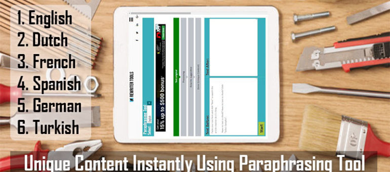 hy Our Paraphrase Tool and  How Our Paraphrasing Tool Works